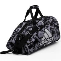 Сумка-рюкзак Adidas Training 2 in 1 Camo Bag Karate adiACC058K черно-камуфляжная