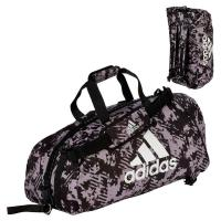 Сумка-рюкзак Adidas Training 2 in 1 Camo Bag Combat Sport adiACC058 черно-камуфляжная