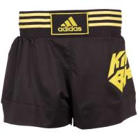 Шорты для кикбоксинга Adidas Kick Boxing Short Micro Diamond adiSKB02 черно-желтые