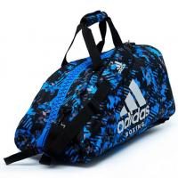 Сумка-рюкзак Adidas Training 2 in 1 Camo Bag Boxing adiACC058B сине-камуфляжная