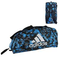 Сумка-рюкзак Adidas Training 2 in 1 Camo Bag Combat Sport adiACC058 сине-камуфляжная