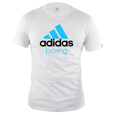 Футболка Adidas Community T-Shirt Boxing бело-синяя adiCTB
