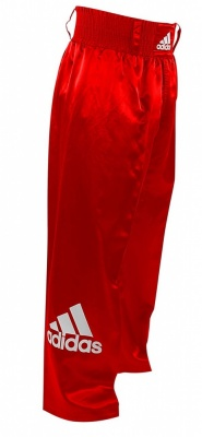Брюки для кикбоксинга Adidas Pants Kickboxing Full Contact красные adiPFC03