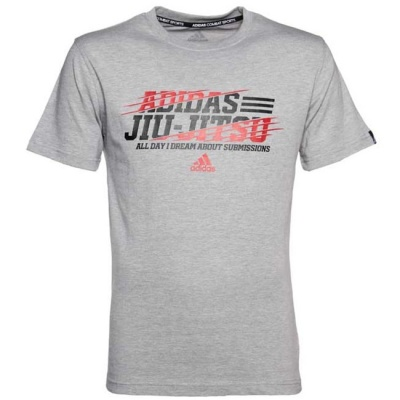 Футболка Adidas Leisure All Day Tee Jiu-Jitsu adiBJJTS02 серая
