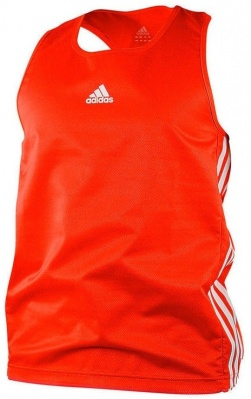 Майка боксерская Adidas Micro Diamond Boxing Top красная adiBTT01